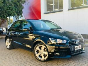 2016 Audi A1 8X MY16 Sport Sportback S Tronic Black 7 Speed Sports Automatic Dual Clutch Hatchback Medindie Walkerville Area Preview
