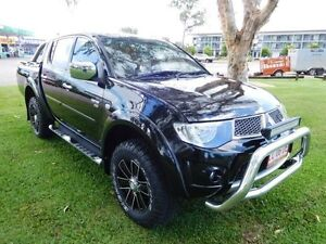 2012 Mitsubishi Triton MN MY13 GLX-R Double Cab Black 5 Speed Manual Utility Hidden Valley Darwin City Preview