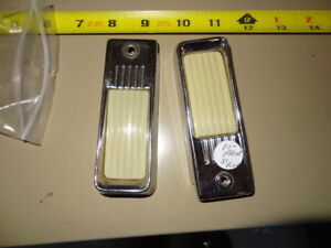 1951 FORD interior light bezel and lens pair