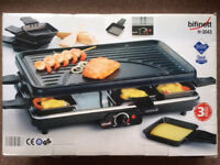 Bifinett Indoor Raclette Grill -1220W with pans