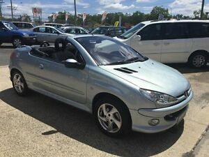2004 Peugeot 206 Automatic Blue 4 Speed Automatic Convertible Underwood Logan Area Preview