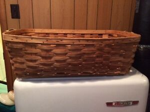 Antique Wicker Apple Basket