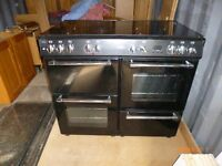 Belling Country Range Cooker Black Dual Fuel 100DFT 444442983