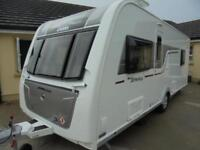 2016 Eldiss Affinity 550 4 Berth Caravan For Sale.End Bedroom. Fixed Island Bed.