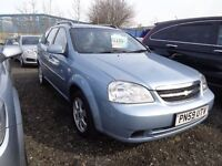 2009 59 reg Chevrolet lacetti sx 1.6 estate mot for 1 year ex we car must be cheap £995