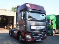 2014 (64) DAF TRUCKS XF106.460 6x2 SUPER SPACE EURO 6 TRACTOR UNIT