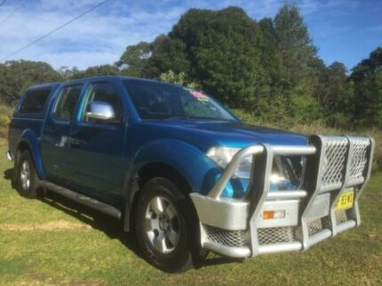 2009 Nissan Navara D40 ST-X (4x4) Blue 6 Speed Manual Dual Cab Pick-up Mardi Wyong Area Preview