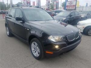 2008 BMW X3 3.0i, 4X4, TOIT PANO, CUIR,AUTO, MAGS, A/C, 3.0L