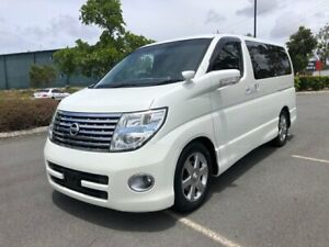 2007 Nissan Elgrand E51 Series 3 Highway Star White 5 Speed Automatic Wagon