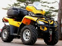 2011 CAN AM OUTLANDER XT 650