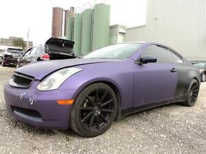 2004 INFINITI G35 Coupe MANUAL CUSTOM EXHAUST WRAPPED PURPLE