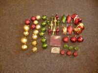 Assortment of New Traditional Christmas Tree Decorations