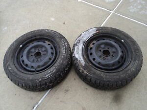 2 Goodyear Tires with Rims for Altima 205/60/15
