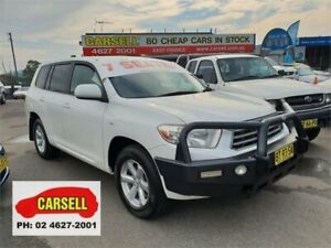 2009 Toyota Kluger GSU40R KX-R 2WD White 5 Speed Sports Automatic Wagon Campbelltown Campbelltown Area Preview