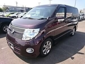 2008 Nissan Elgrand 3 Highwaystar Purple 5 Speed Automatic Wagon Southport Gold Coast City Preview