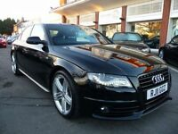 AUDI A4 1.8 TFSI S LINE BLACK EDITION 4d AUTO 158 BHP NOW (black) 2011