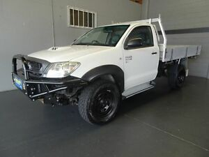 2011 Toyota Hilux KUN26R MY11 Upgrade SR (4x4) White 4 Speed Automatic Cab Chassis Woodridge Logan Area Preview