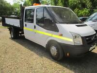 2008 FORD TRANSIT 2.4 TDCI DOUBLE CAB TIPPER NO VAT 120,000 MILES