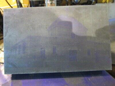 Old Metal Printing Plate St. Louis De France Parish Church Building Lowell Mass