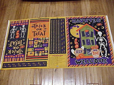 Halloween treat bags and door banner Debbie Mumm easy to sew fabric panel  - Easy Halloween Crafts And Treats
