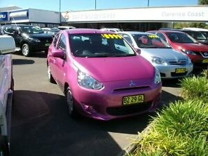 2013 Mitsubishi Mirage LA MY14 ES Purple 5 Speed Manual Hatchback South Grafton Clarence Valley Preview