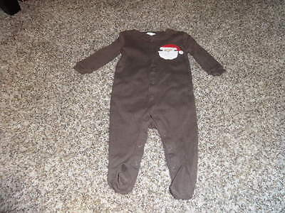 NWOT NEW POTTERY BARN KIDS 3-6 BROWN SANTA CLAUSE OUTFIT  GYMMIES](Kids Santa Outfit)