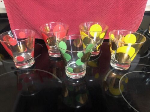 Vintage Russel Wright Bartlett Collins Eclipse Ice Bucket and 5 Glasses