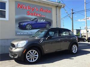 2011 Mini Cooper Countryman S ALL4 (AWD), PANO ROOF, ONLY 35KM!