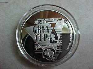 Canadian 79th Anniversary 1 Ounce Silver Medallion Grey Cup!! London Ontario image 4