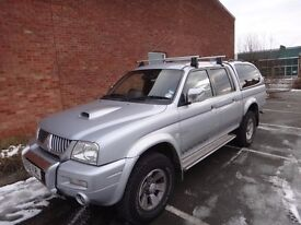 Mitsubishi L200 Warrior 55 Plate Leather Truckman Top only 94000mls