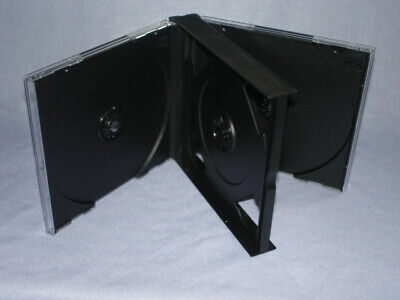 10 24mm Multi 4 Quad Cd Jewel Cases Wblack Tray Psc71 Usa Free 2 Day Ship