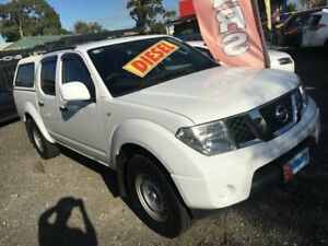 2013 Nissan Navara D40 MY12 RX (4x4) White 6 Speed Manual Dual Cab Pick-up Elizabeth West Playford Area Preview