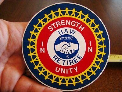 UAW DISTRICT 8 UNION Sticker Strength in Unity NOS