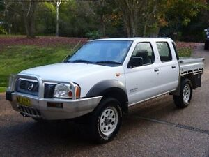 2005 Nissan Navara D22 DX (4x4) White 5 Speed Manual 4x4 Cab Chassis Glenning Valley Wyong Area Preview