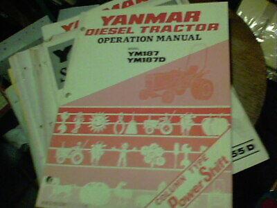 Yanmar Service Manual Diesel Tractor Model Ym187 Ym187d