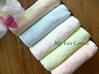 100% Natural Organic Bamboo Fiber Washcloths hand towel..set