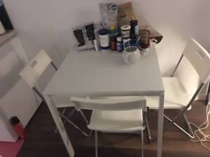 IKEA dining table & FREE coffee table & 3 chairs