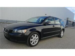 2007 Volvo V50-Black Pearl with Sun Roof & Molded Valuer Seats