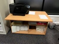 Beech Office Table ideal for printers or general storage. Excellent conditions