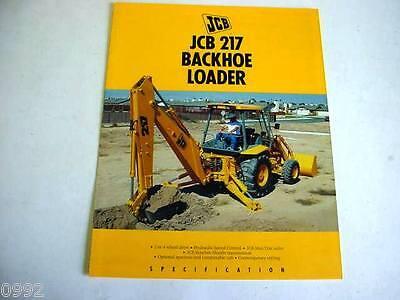 Jcb 217 Tractor Loader Backhoe 8 Pages1991 Brochure