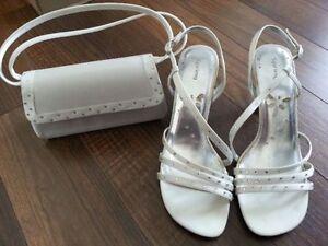 sandales à talons hauts avec sac à main (pour bal ou soirée)