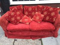 3 seater sofa and cushions - full fire sfaety compliant