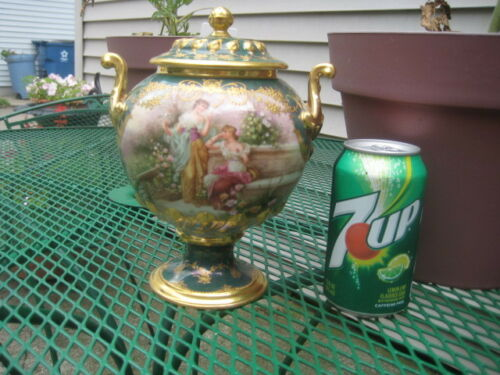 DRESDEN HAND PAINTED URN, ROYAL VIENNA QUALITY