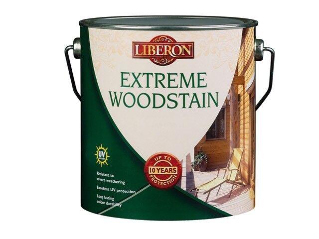 LIBERON EXTREME 10 YEAR EXTERIOR WOODSTAIN COLOUR CHOICE 2.5 LITRES