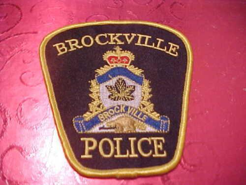 BROCKVILLE CANADA POLICE PATCH SHOULDER SIZE UNUSED