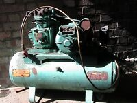 air compressor motor driven good for diy / small garage . working condition