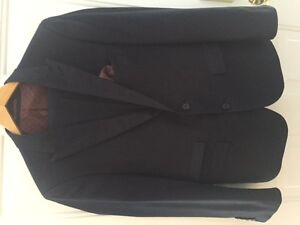 "Harry Brown London Black Label Men's 38S Navy Suit ""Slim Fit"""