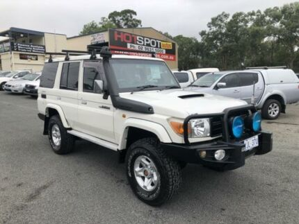 2010 Toyota Landcruiser VDJ76R MY10 GXL White 5 Speed Manual Wagon Greystanes Parramatta Area Preview