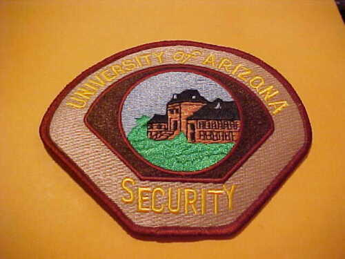 UNIVERSITY OF ARIZONA SECURITY POLICE PATCH SHOULDER SIZE UNUSED