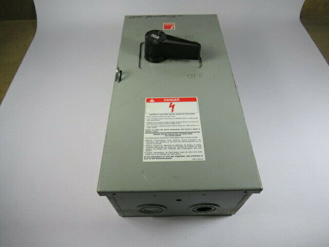 Federal Pioneer 5336 Disconnect Switch 30A 600VAC 250VDC 3Pole  AS IS